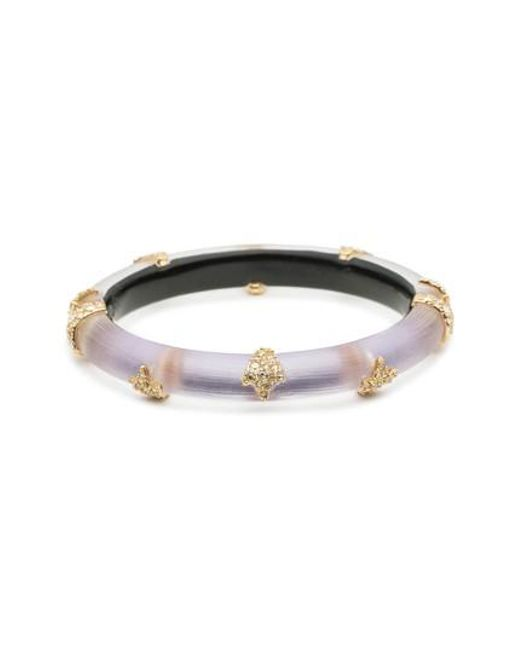 Alexis Bittar - Purple Studded Hinge Bracelet for Men - Lyst