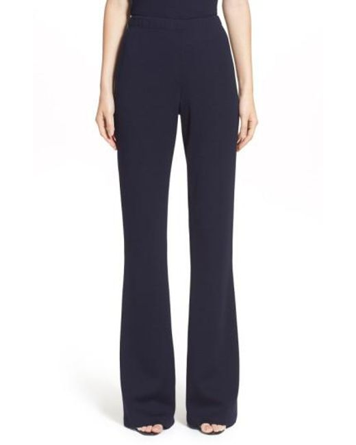 St. John | Blue Kasia Bootcut Pants | Lyst