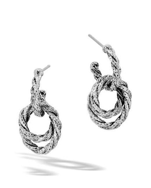 John Hardy | Metallic 'classic Chain' Double Twisted Hoop Earrings | Lyst