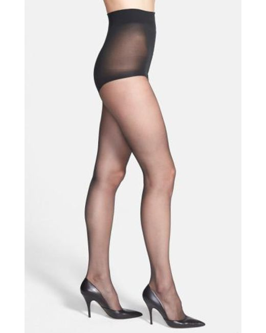 Donna Karan   Gray Donna Karan The Nudes Control Top Pantyhose   Lyst