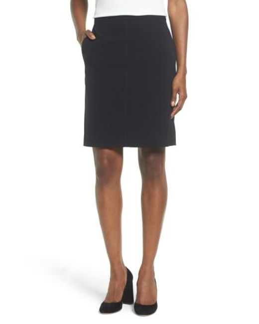 Anne Klein | Black Two-pocket Suit Skirt | Lyst