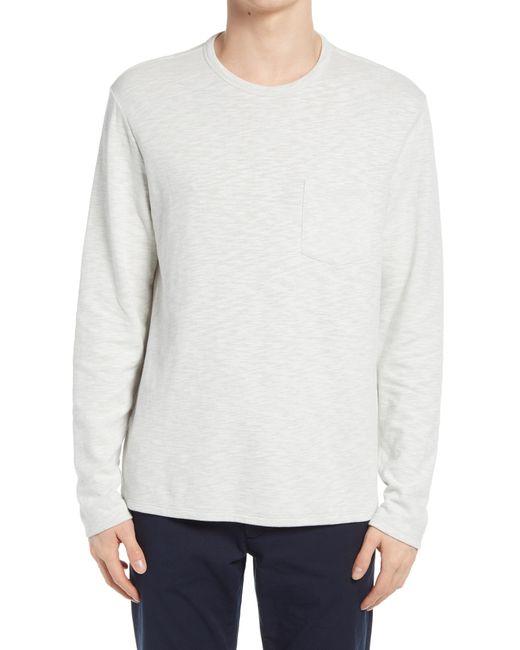 Vince Gray Sun Faded Long Sleeve Pocket T-shirt for men
