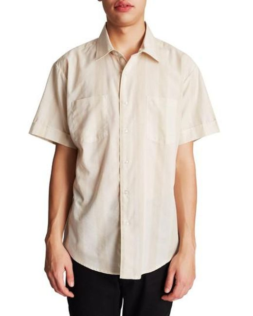 Brixton - Natural Branson Woven Shirt for Men - Lyst