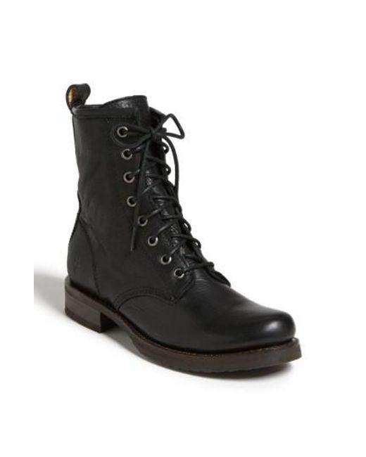 Frye - Black 'veronica Combat' Boot - Lyst