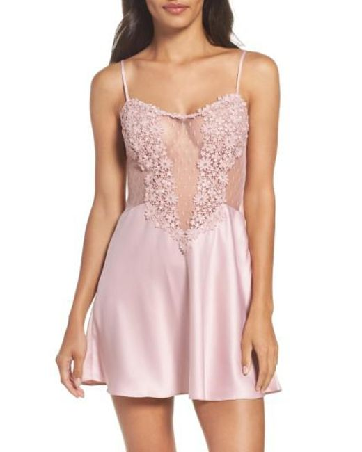 Flora Nikrooz | Pink Showstopper Chemise | Lyst