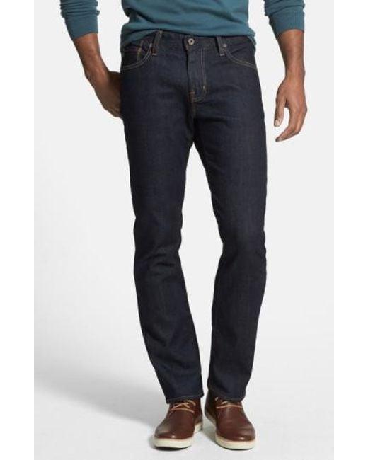 AG Jeans | Blue 'graduate' Slim Straight Leg Jeans for Men | Lyst