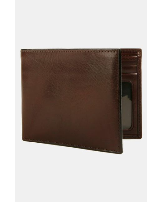 Bosca Black Leather Bifold Wallet for men