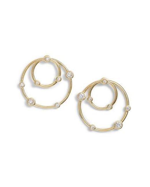Melinda Maria | Metallic Kathy Station Hoop Earrings | Lyst