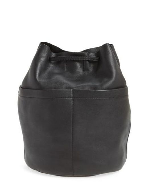 Madewell | Black The Convertible Leather Backpack | Lyst