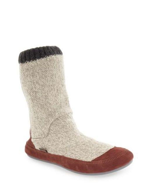 Acorn   Gray 'Slouch Boot' Slipper   Lyst