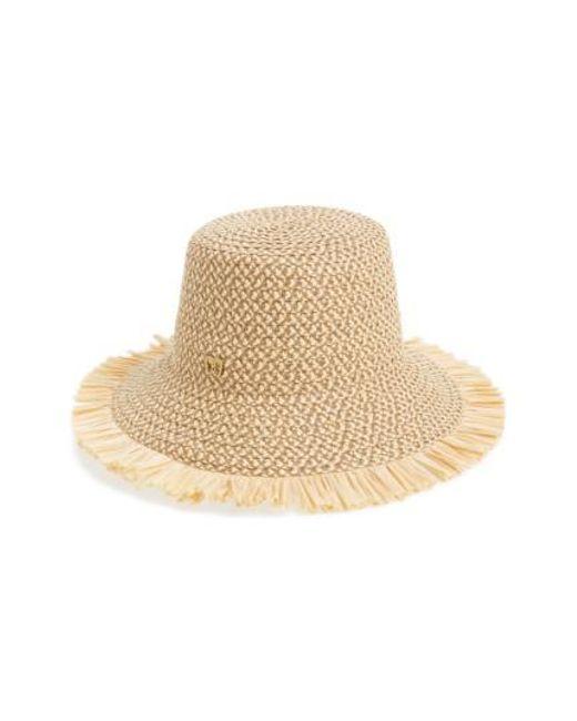 Eric Javits | Brown 'tiki' Bucket Hat | Lyst