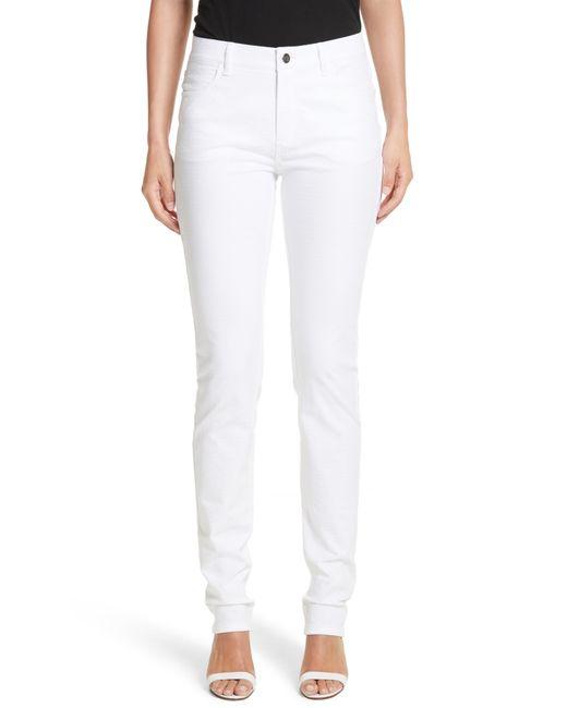 Lafayette 148 New York White Thompson Straight Leg Jeans