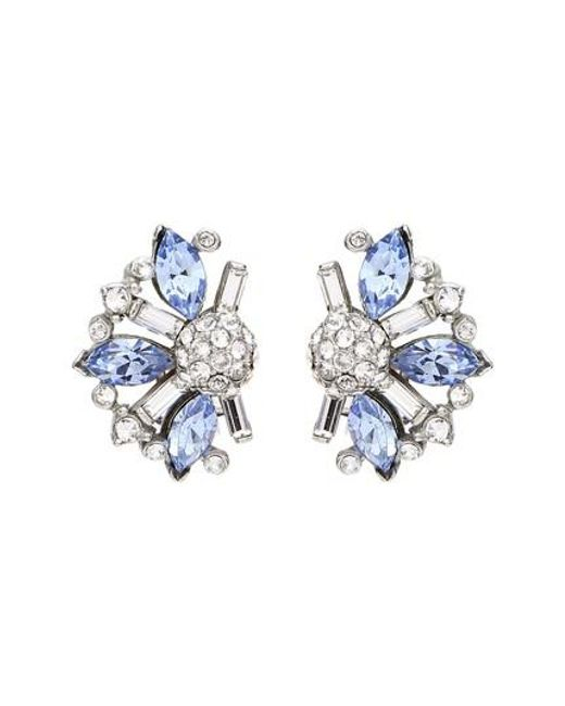 Ben-Amun - Silver & Blue Crystal Earrings - Lyst