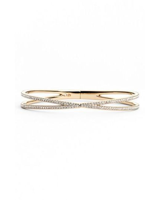 Nadri | Metallic Pave Hinged Crossover Bracelet (nordstrom Exclusive) | Lyst