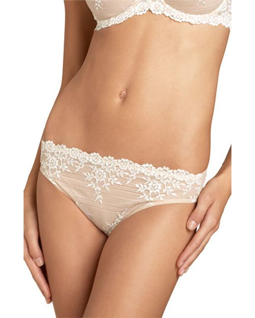Wacoal   Natural 'embrace' Lace Bikini   Lyst