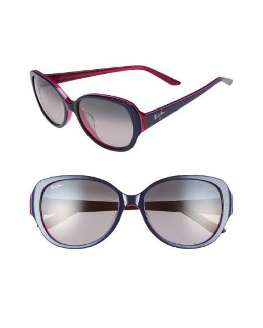 Maui Jim - Gray Swept Away 56mm Polarizedplus2 Sunglasses - Lyst