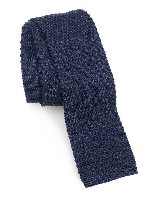 Eleventy Blue Knit Silk Tie for men