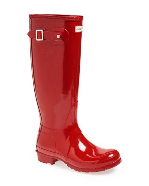 Hunter | Red Original High Gloss Boot | Lyst