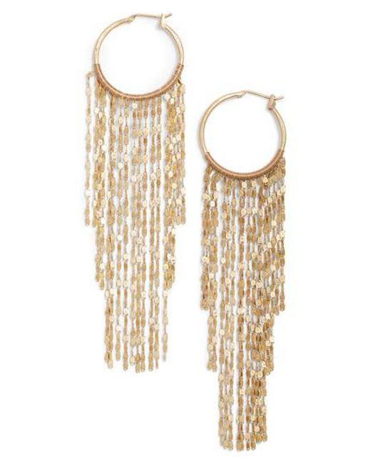 Serefina | Metallic Waterfall Hoop Earrings | Lyst