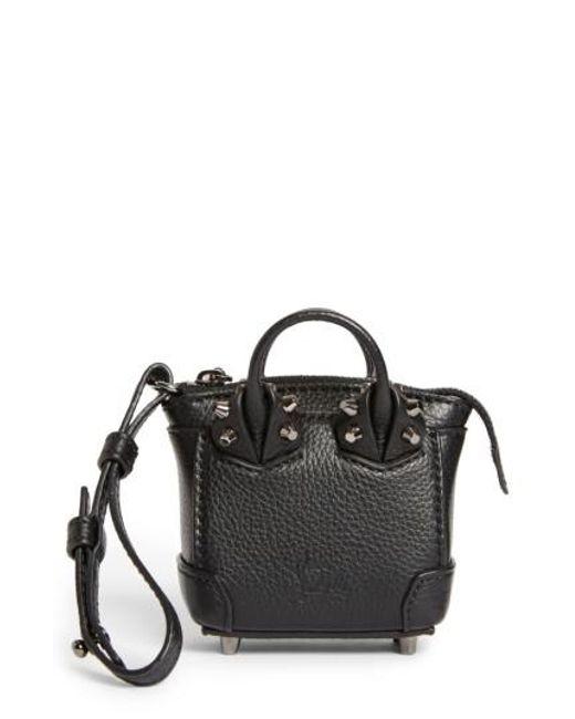Christian Louboutin | Black Eloise Mini Leather Bag Charm | Lyst