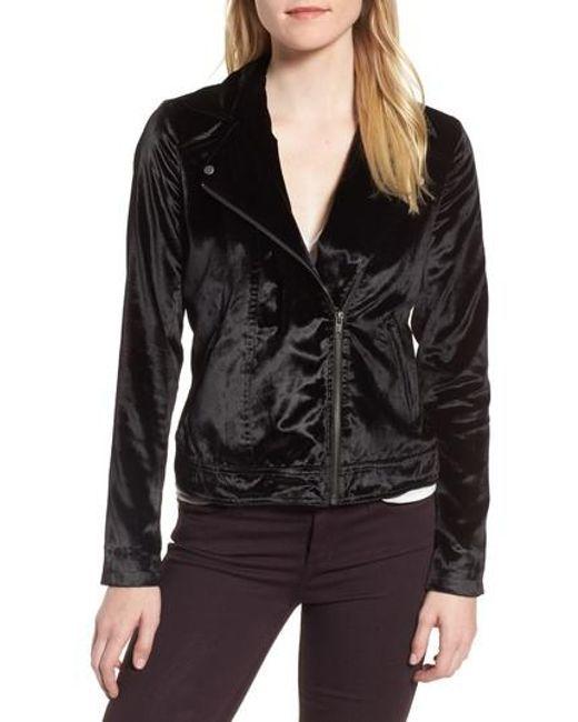 Trouvé | Black Velvet Moto Jacket | Lyst