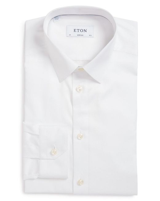 Eton of Sweden - White Super Slim Fit Twill Dress Shirt for Men - Lyst