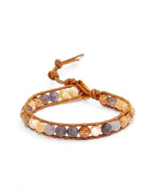 Chan Luu | Brown Mixed Semiprecious Stone Bracelet | Lyst