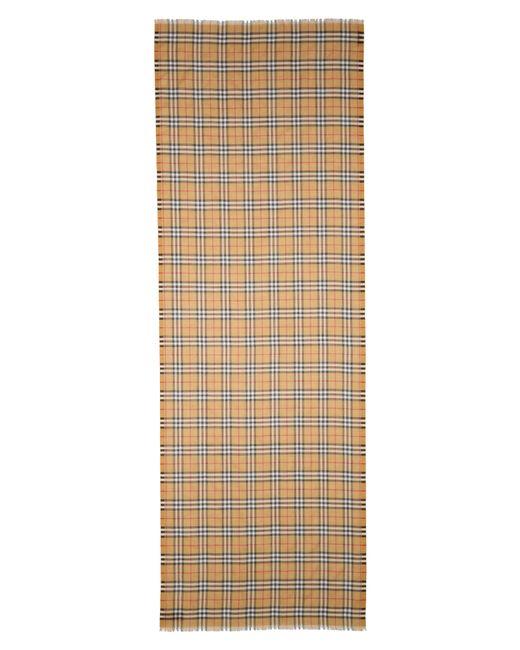 Burberry - Multicolor Vintage Check Wool & Silk Gauze Scarf - Lyst
