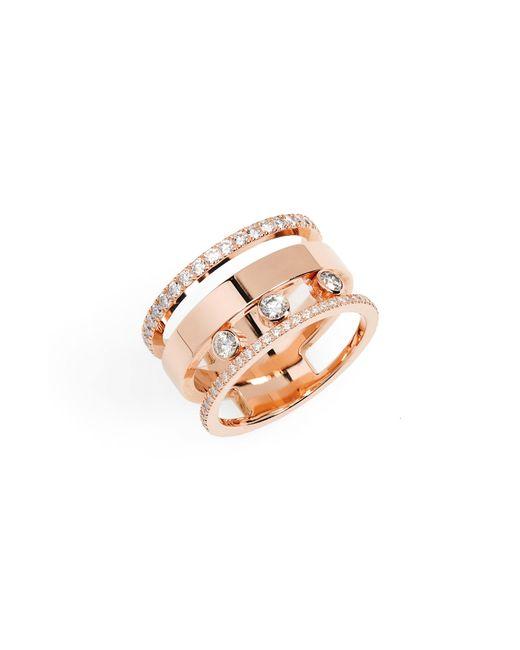 Messika - Metallic Three Row Move Romane Diamond Ring - Lyst