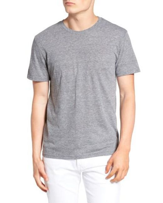 The Rail - Gray Slim Fit Crewneck T-shirt for Men - Lyst