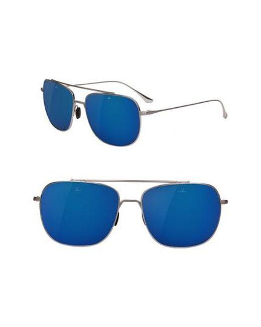 Vuarnet Sonnenbrille SWING Titan blau flash z1P5Wp