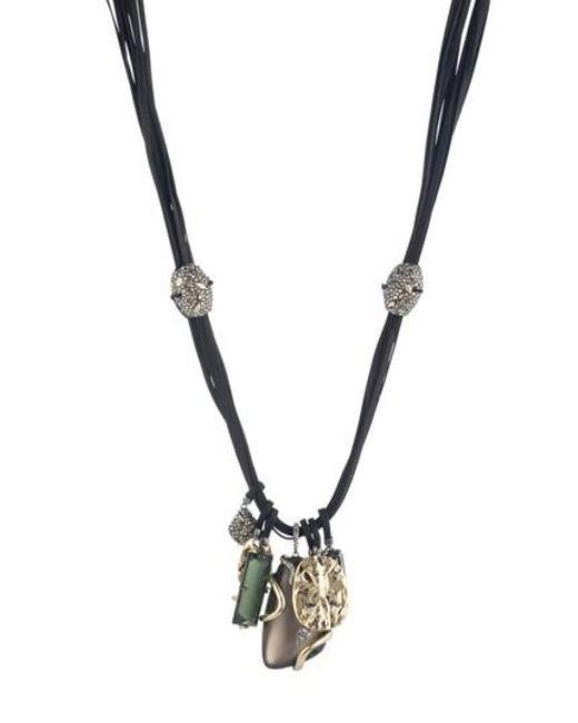 Alexis Bittar - Metallic Lucite Charm Necklace - Lyst