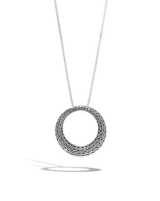 John Hardy - Metallic Classic Chain Circle Pendant Necklace - Lyst