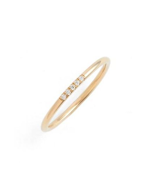 Zoe Chicco - Metallic French Pave Diamond Stacking Ring - Lyst