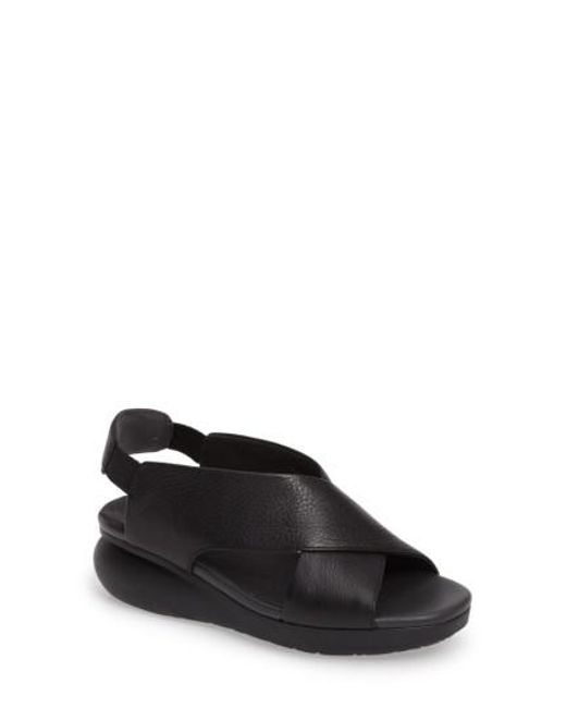 Camper | Black Balloon Slingback Wedge Sandal | Lyst