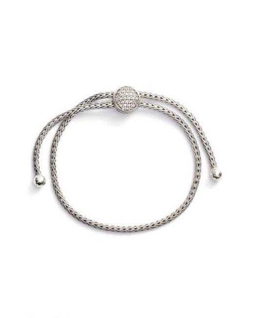 John Hardy | Metallic Classic Chain Diamond Pull Through Bracelet | Lyst