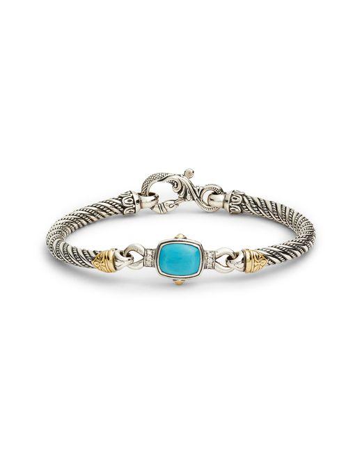 Konstantino - Metallic Hermione Cushion Stone Hinge Bracelet - Lyst