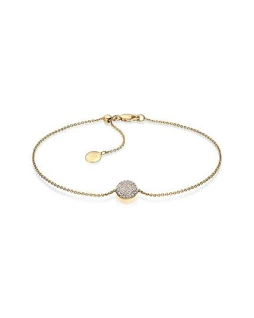 Ava Diamond Button Bracelet, Sterling Silver Monica Vinader