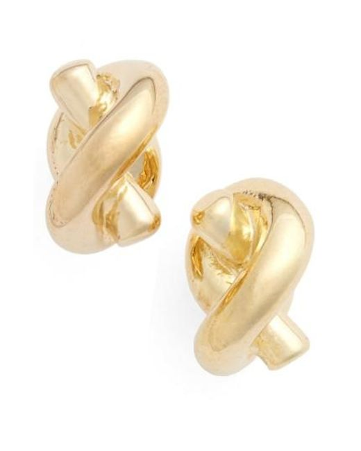 Kate Spade | Metallic 'sailors Knot' Mini Stud Earrings | Lyst