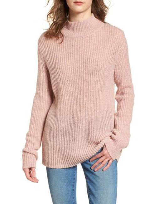 French connection Mathilde Mock Neck Sweater in Pink | Lyst