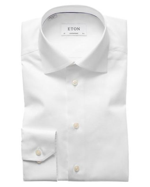 Eton of Sweden | White Contemporary Fit Solid Dress Shirt for Men | Lyst