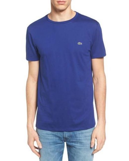 Lacoste | Blue Pima Cotton T-shirt for Men | Lyst