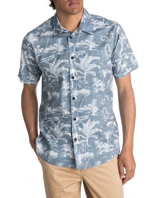 Quiksilver | Blue Waterman Collection Palmitoto Shirt for Men | Lyst