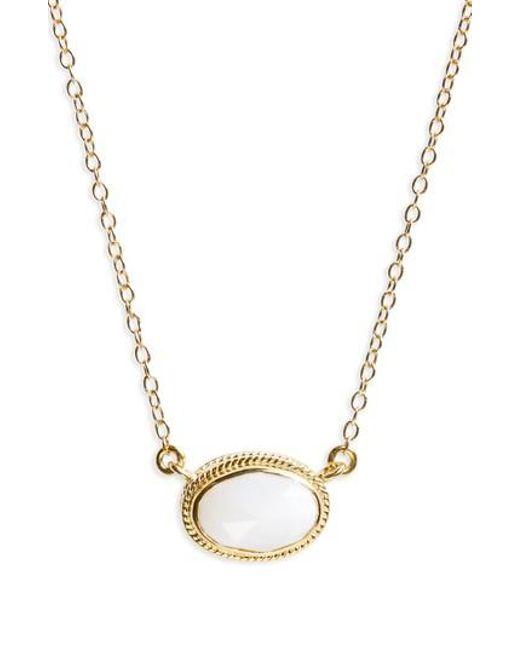 Anna Beck | Metallic White Opal Pendant Necklace | Lyst