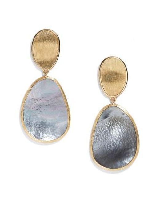 Marco Bicego   Metallic Lunaria Mother Of Pearl Drop Earrings   Lyst
