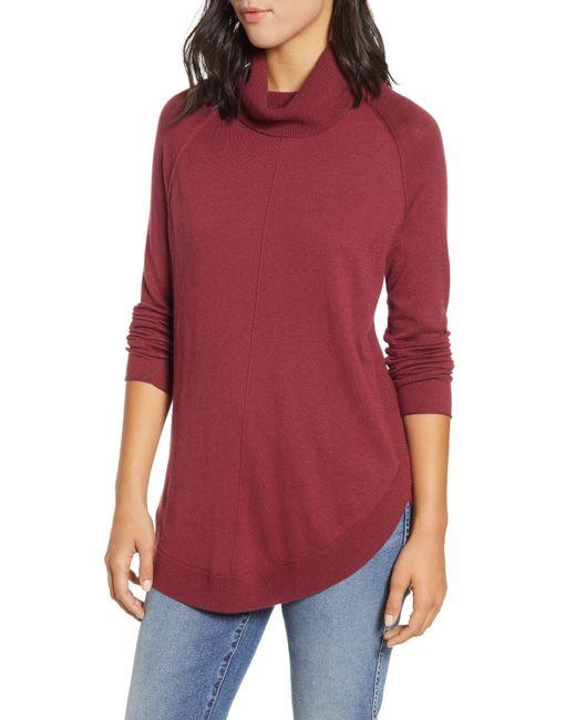 Caslon Red Caslon Turtleneck Tunic Sweater