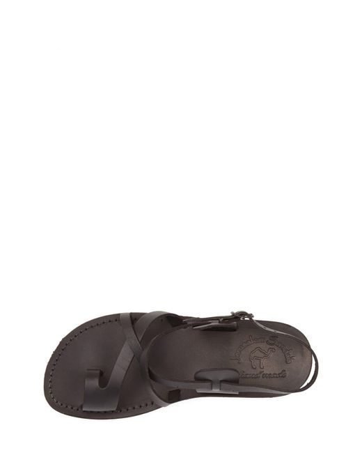 Jerusalem Sandals Brown 'the Good Shepherd' Leather Sandal for men