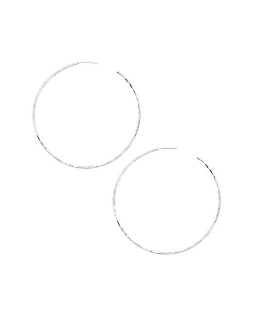 Argento Vivo - Metallic Extra Large Hammered Hoop Earrings - Lyst