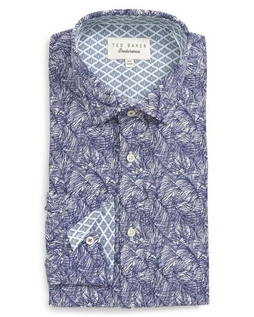 Ted Baker - Blue Messera Trim Fit Print Dress Shirt for Men - Lyst