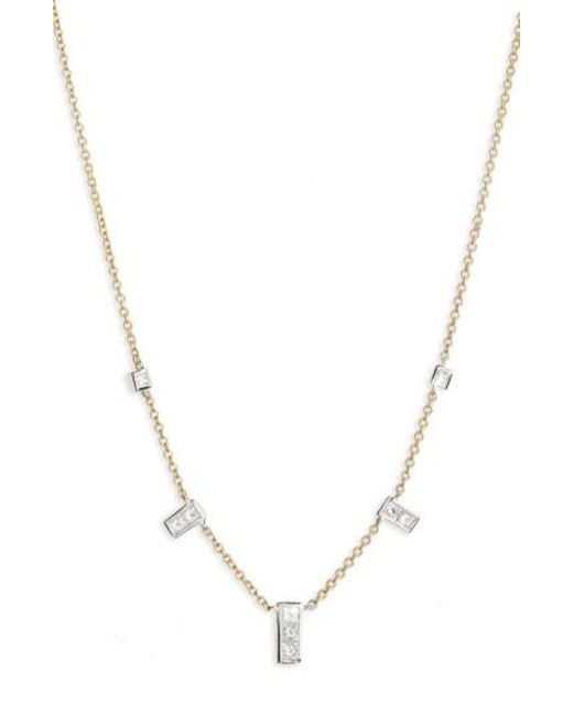 Bony Levy | Metallic Diamond Rectangle Dangle Station Necklace (nordstrom Exclusive) | Lyst